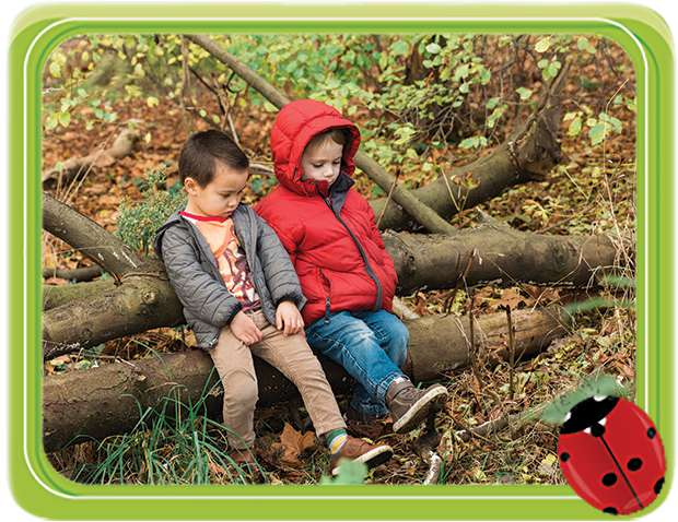 Children Sat on Tree
